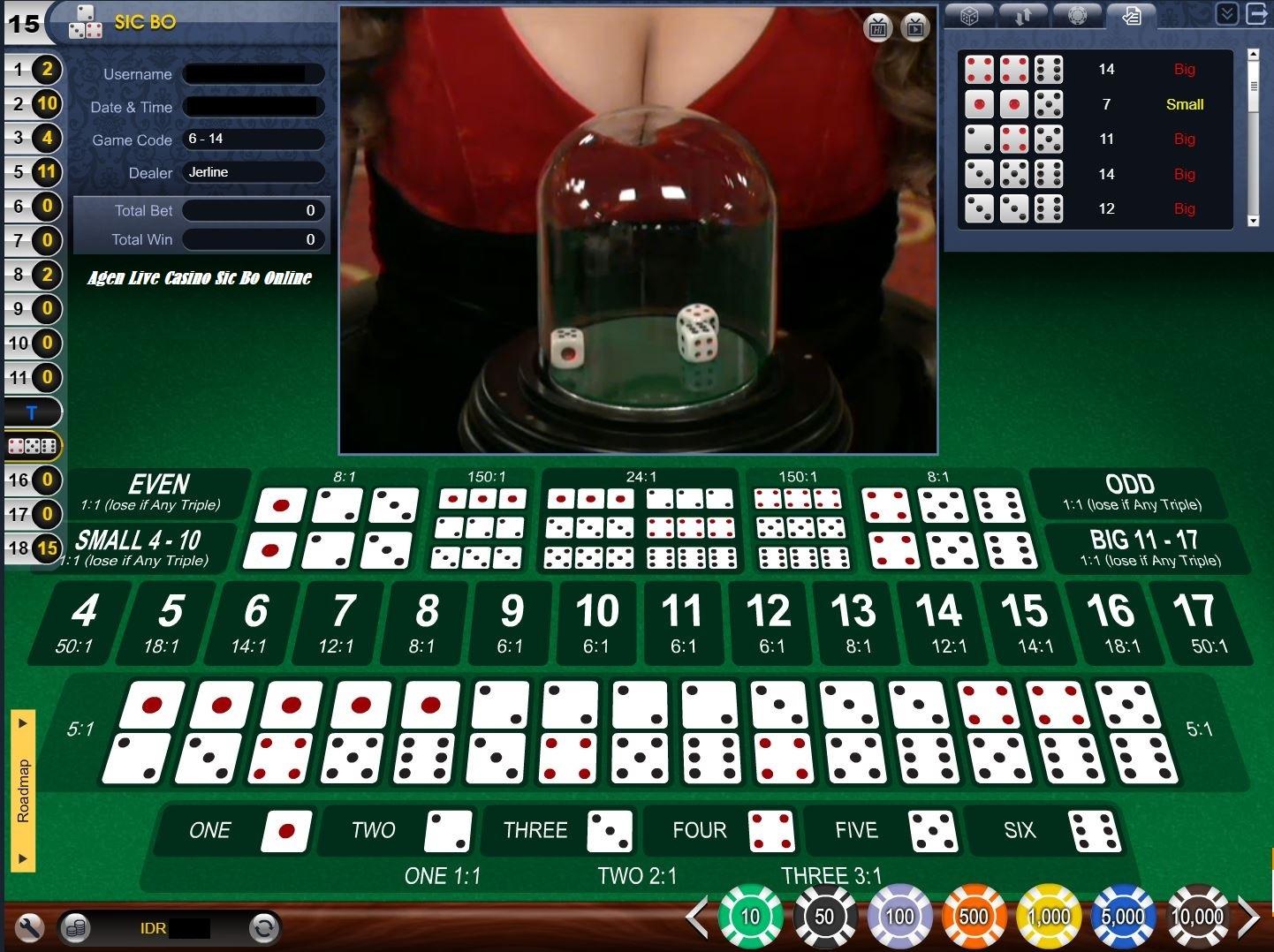 Agen Live Casino Sic Bo Online